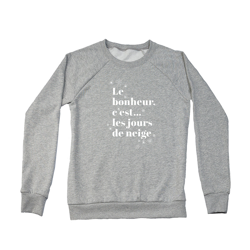 Women's Jours de Neige Crew Sweatshirt, Heather Grey