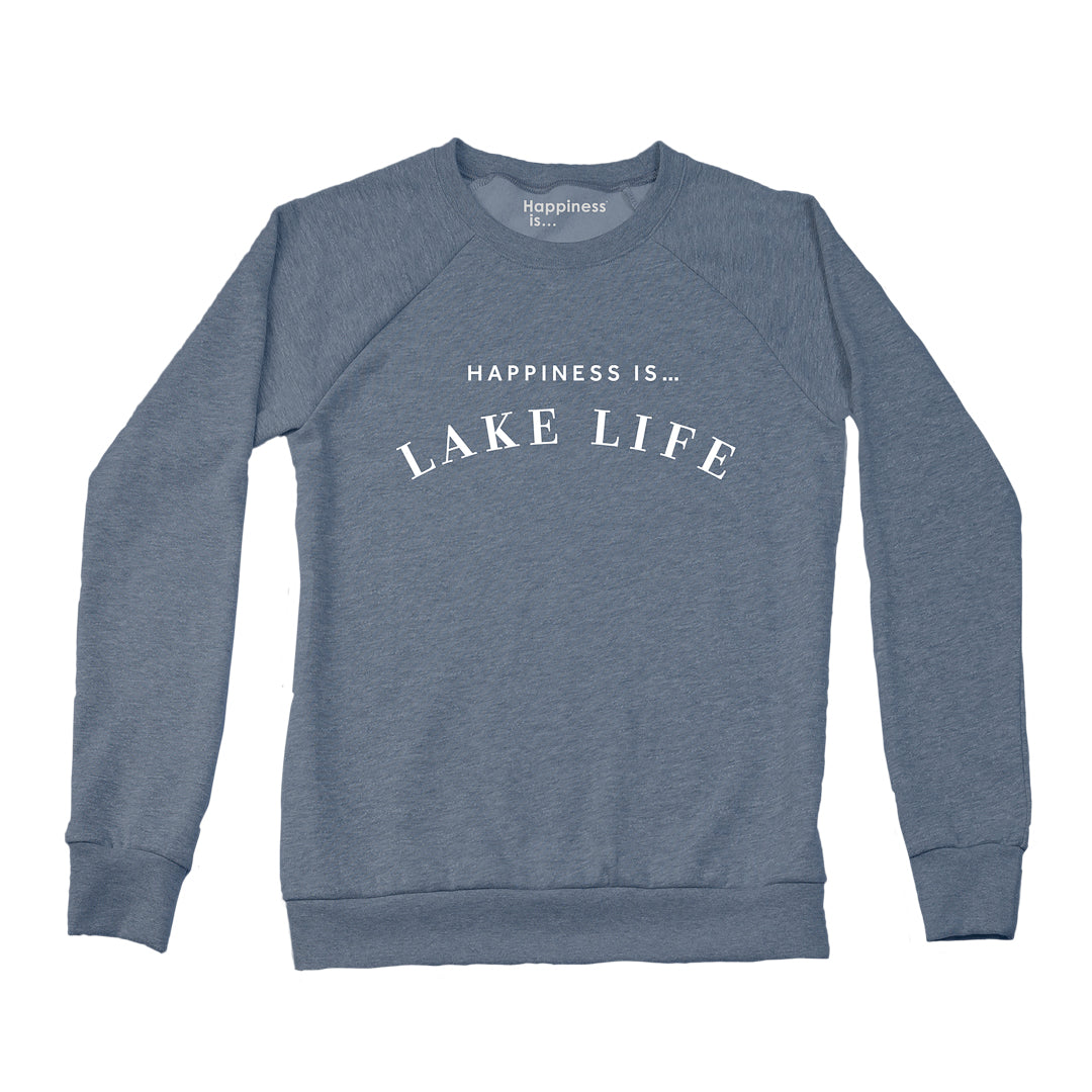 Women's Lake Life Crew Sweatshirt, Heather Navy