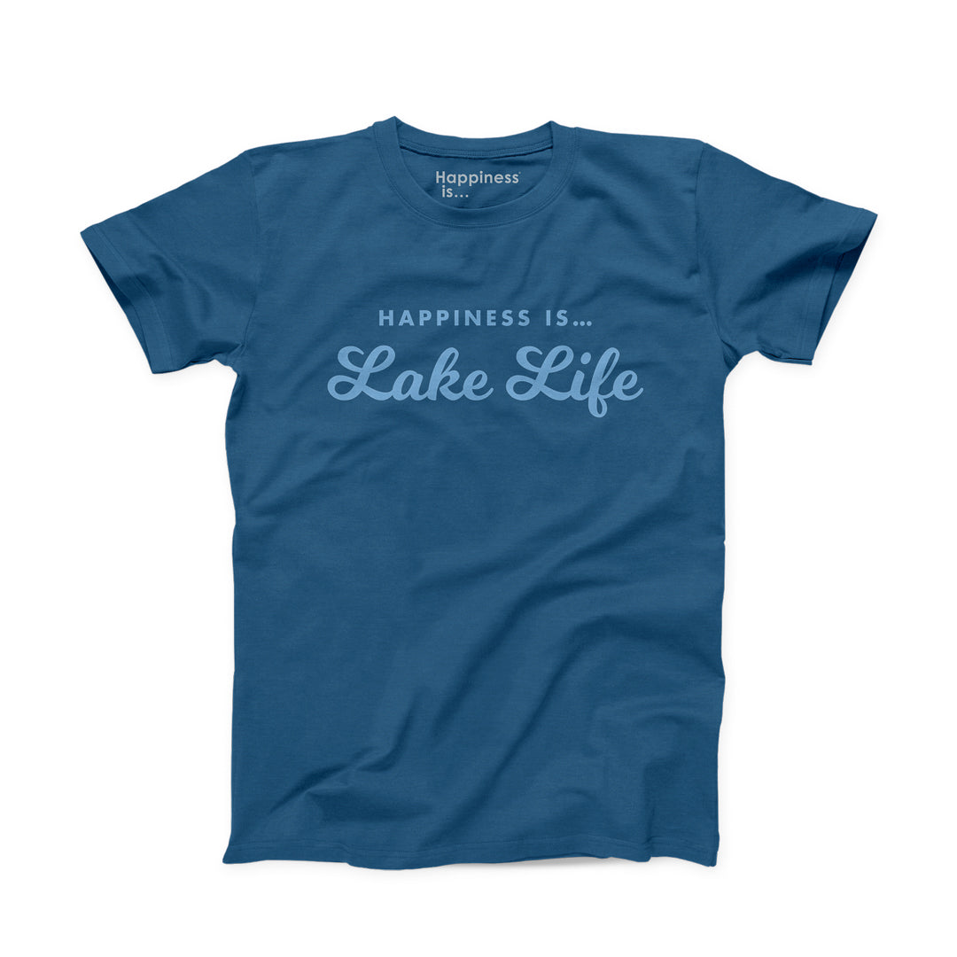 Men's Lake Life T-Shirt, Sea Blue