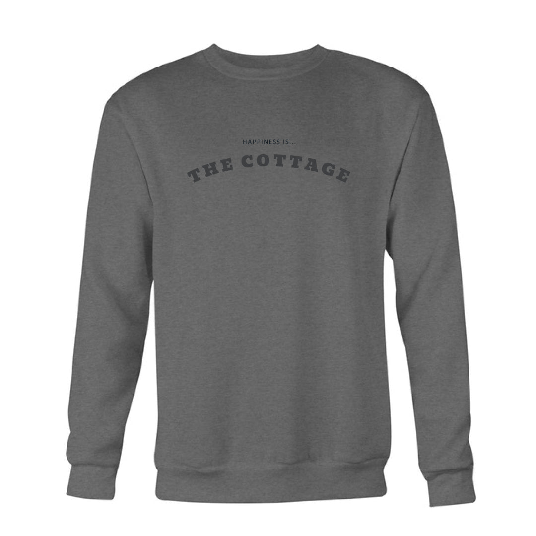 Men's Cottage Crew Sweatshirt, Charcoal