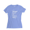 Women's Snow Days T-Shirt, Cornflower Blue