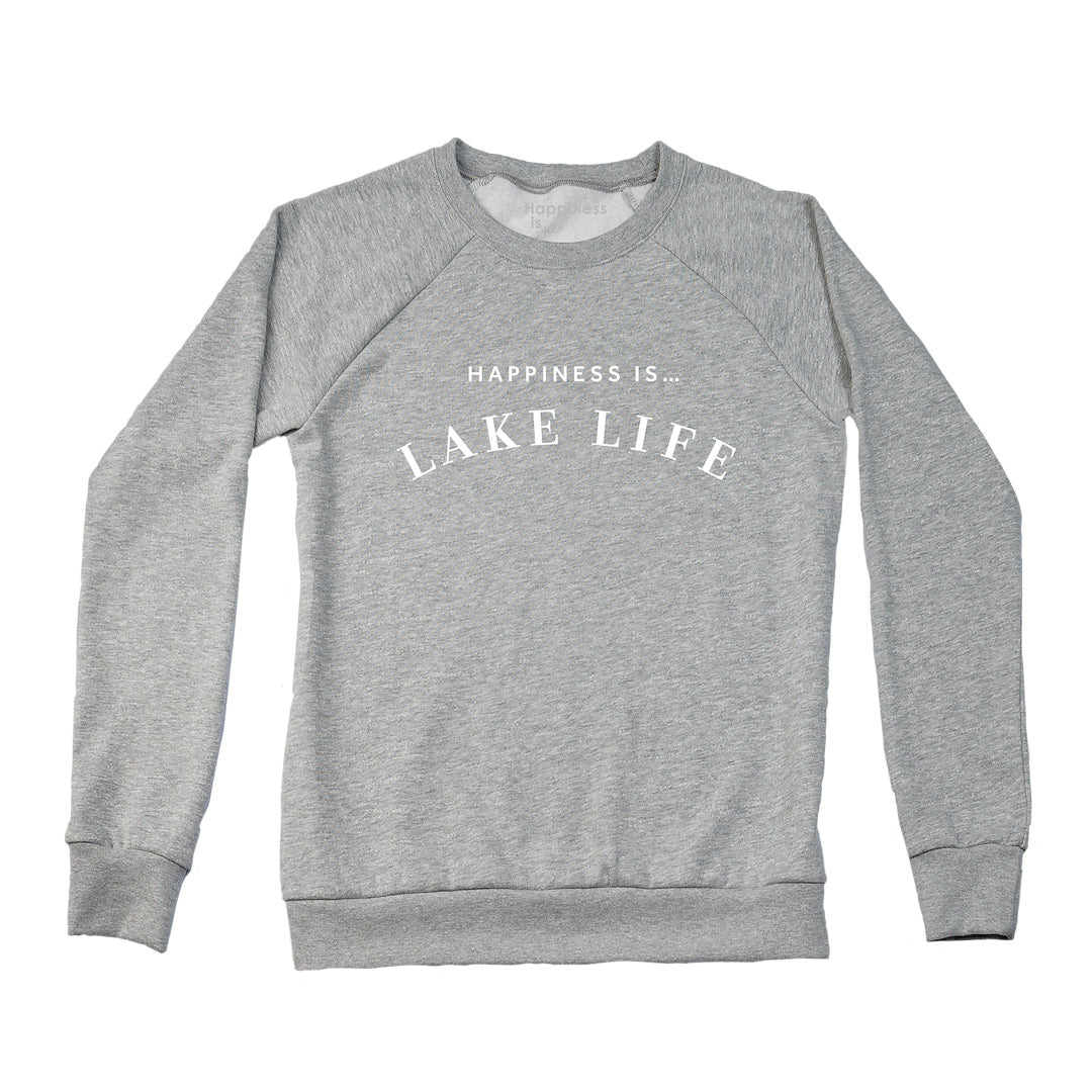 Women's Lake Life Crew Sweatshirt, Heather Grey