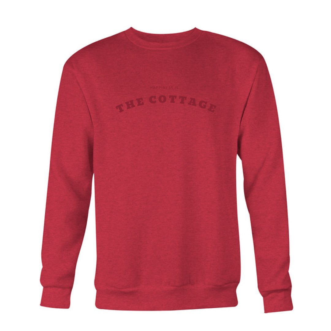 Men's Cottage Crew Sweatshirt, Chili