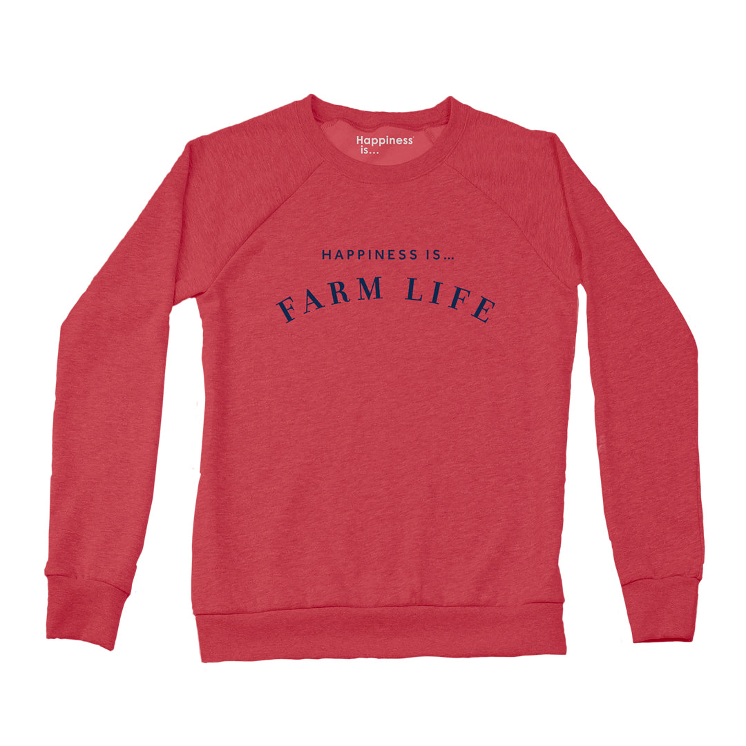 Women's Farm Crew Sweatshirt, Chili