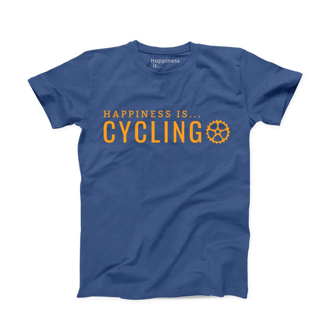 Men's Cycling T-Shirt, Blue
