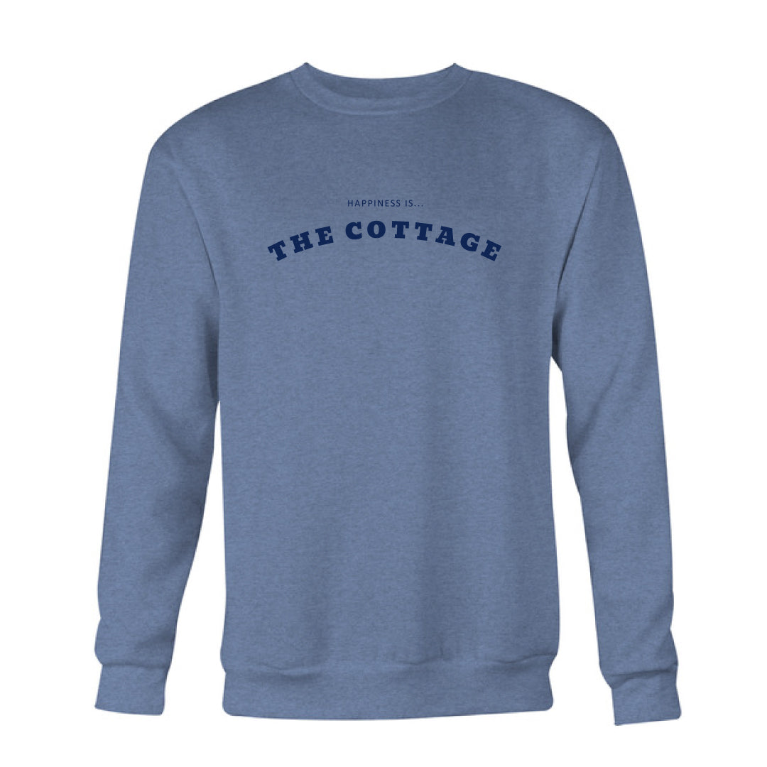 Men's Cottage Crew Sweatshirt, Heather Navy