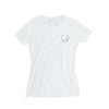 Women's Sailing T-Shirt, White with Navy