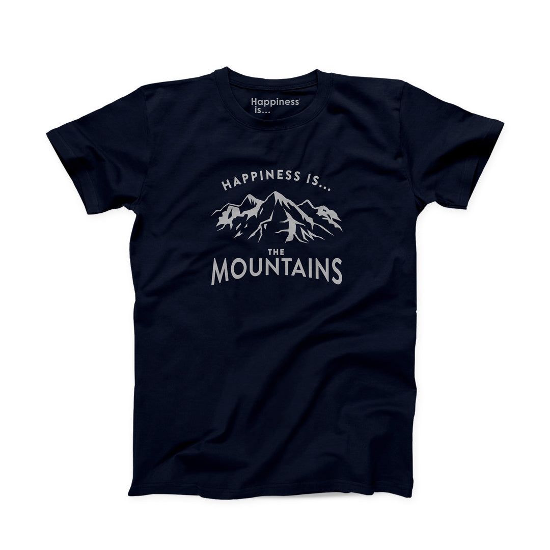 Men's Mountain T-Shirt, Navy