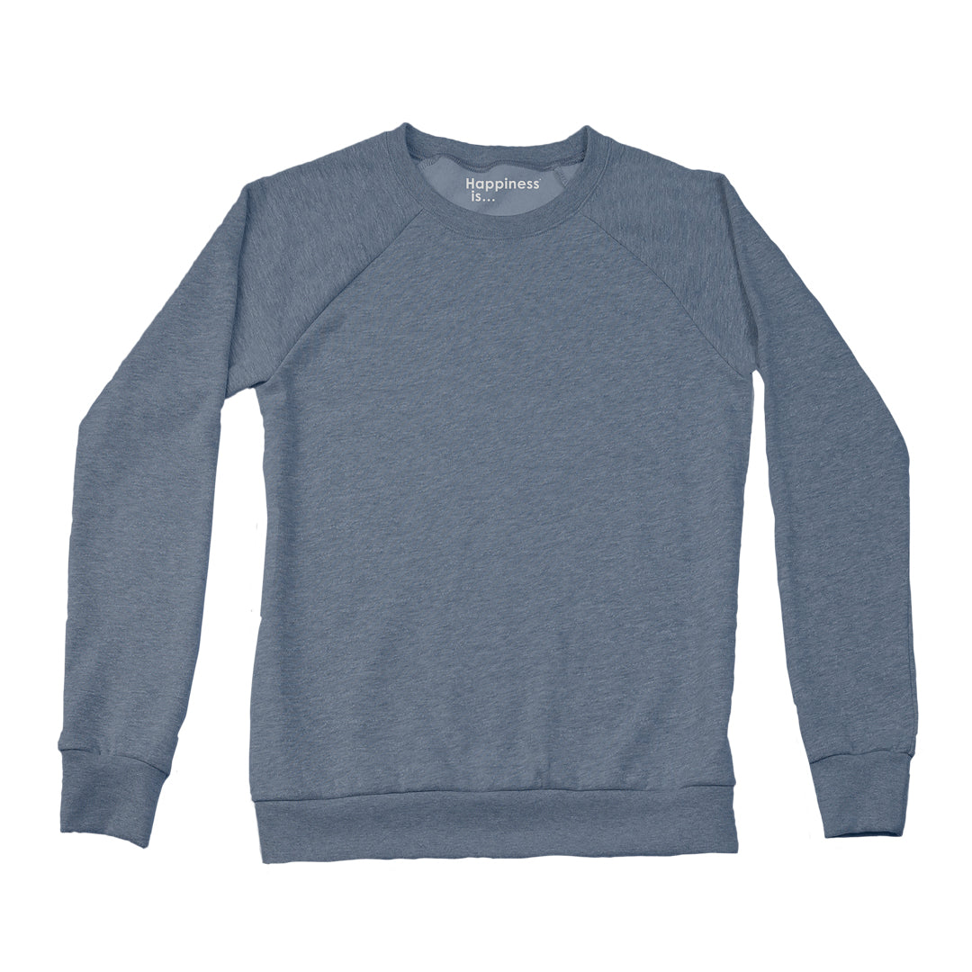 Women's Plain Crew Sweatshirt, Heather Navy