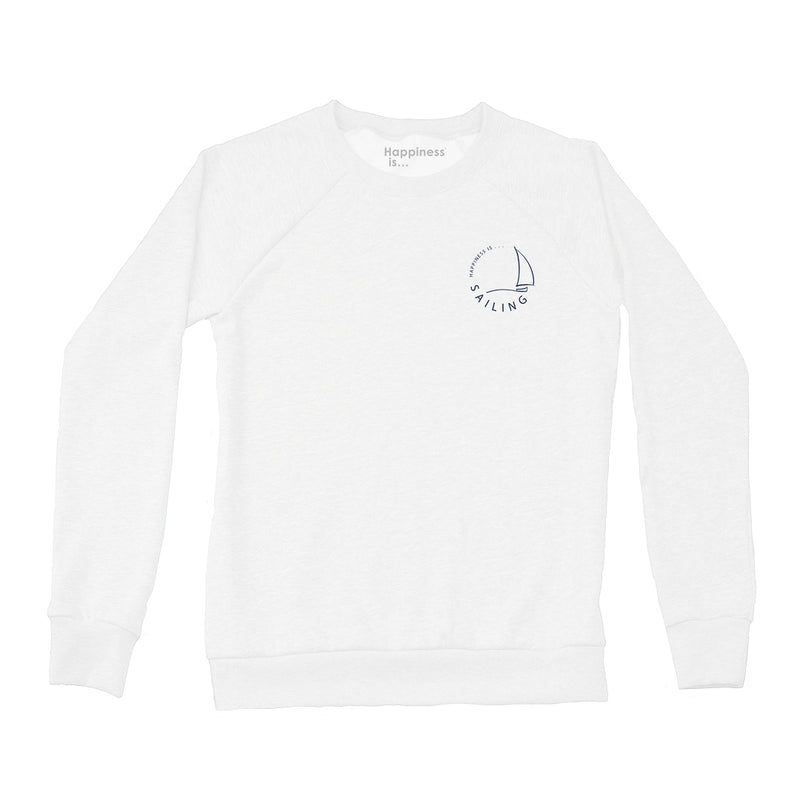 Women's Sailing Crew Sweatshirt, White