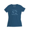 Women's Paddling T-shirt, Sea Blue