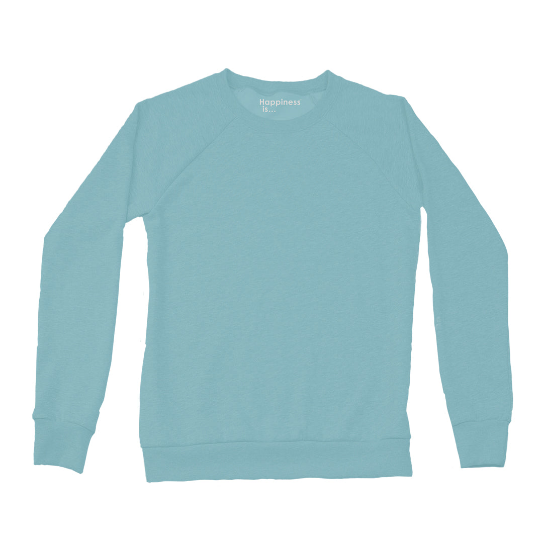 Women's Plain Crew Sweatshirt, Teal