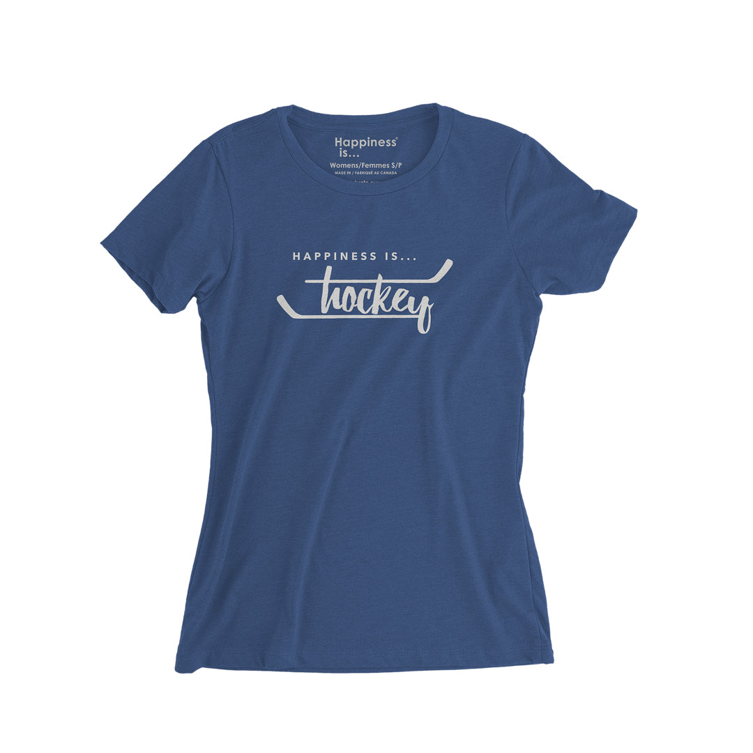 Youth Girls Hockey T-Shirt, Blue