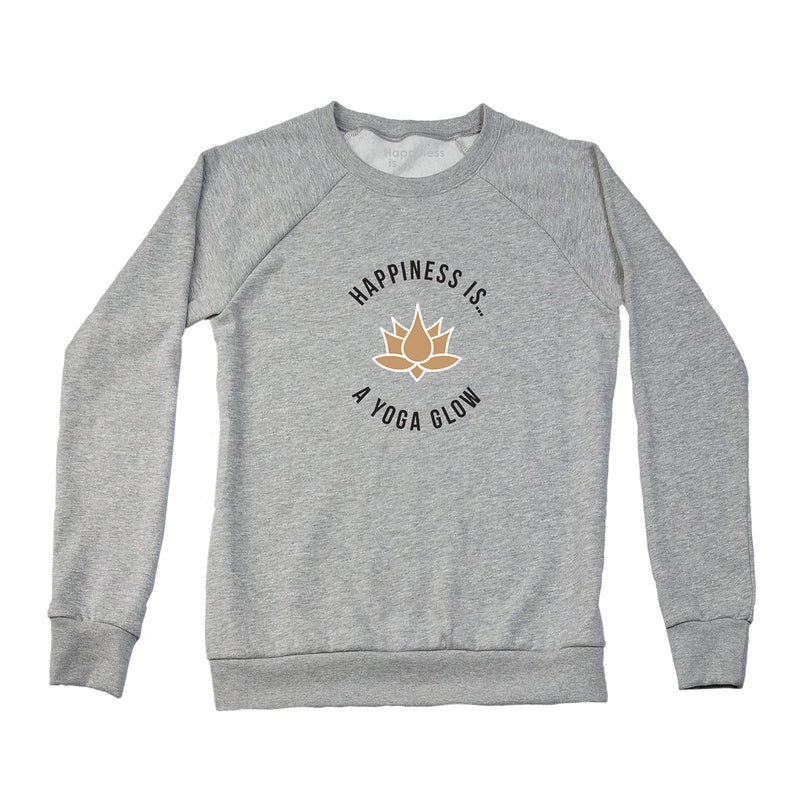 Women's Yoga Glow Crew Sweatshirt, Heather Grey