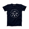 Men's Crest T-Shirt, Navy Blue