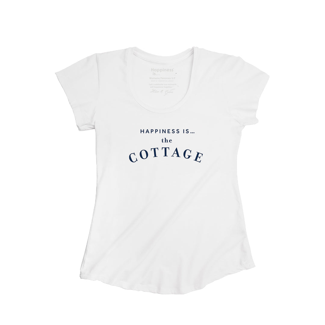 Women's Cottage Scoop T, White