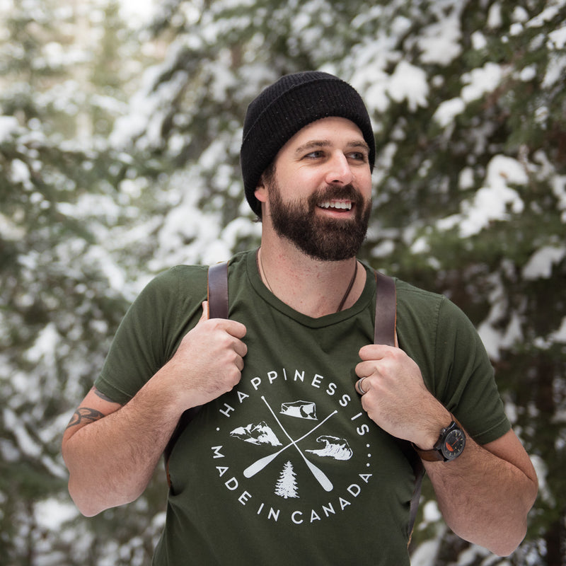 Men's Crest T-Shirt, Forest Green