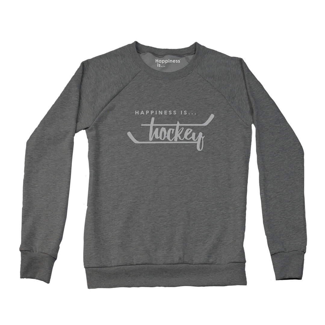 Women's Hockey Crew Sweatshirt, Charcoal