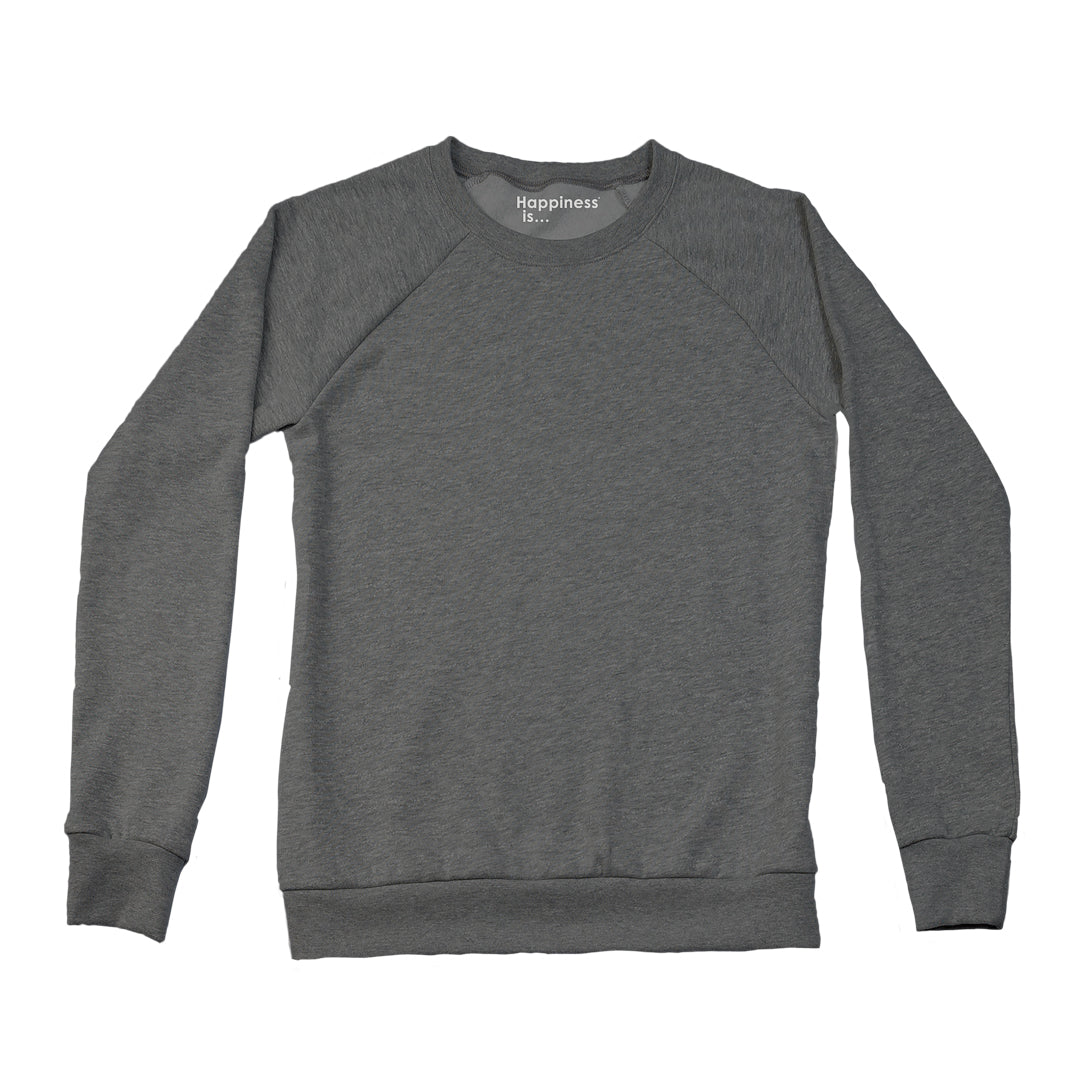 Women's Plain Crew Sweatshirt, Charcoal
