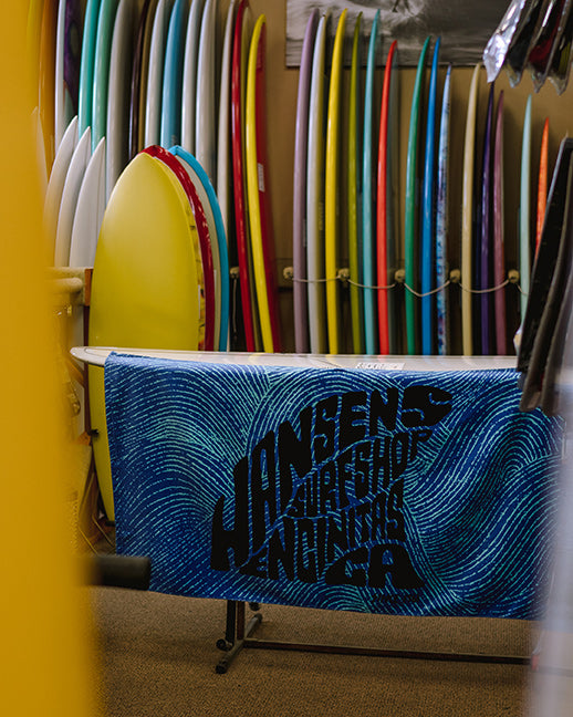 Hansen Surfboards Leus Collab towel