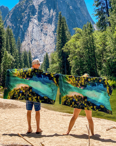 Changing Tides Foundation Beach Towel - LEUS Towels