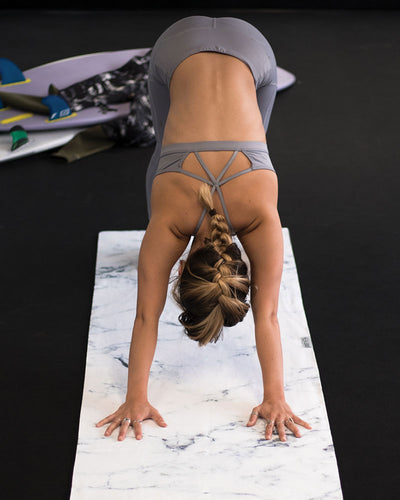 Marble Yoga Towel - LEUS Towels