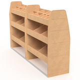 """Super-Tuff Double"" Full height 4 Shelf"