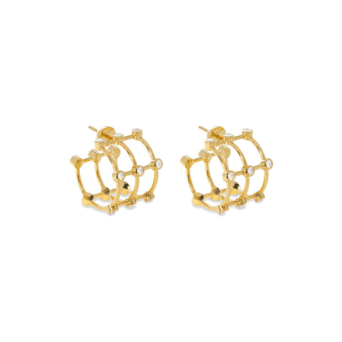 """DIAMOND CAGE"" EARRINGS"