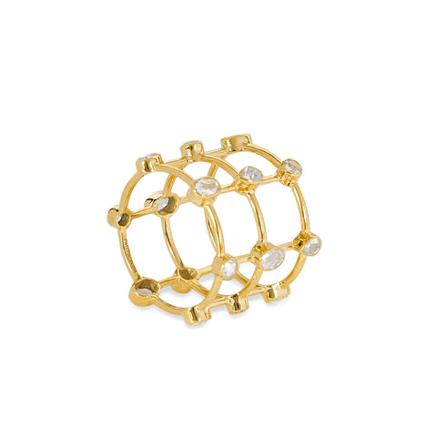 """ROSE CUT CAGE"" RING"