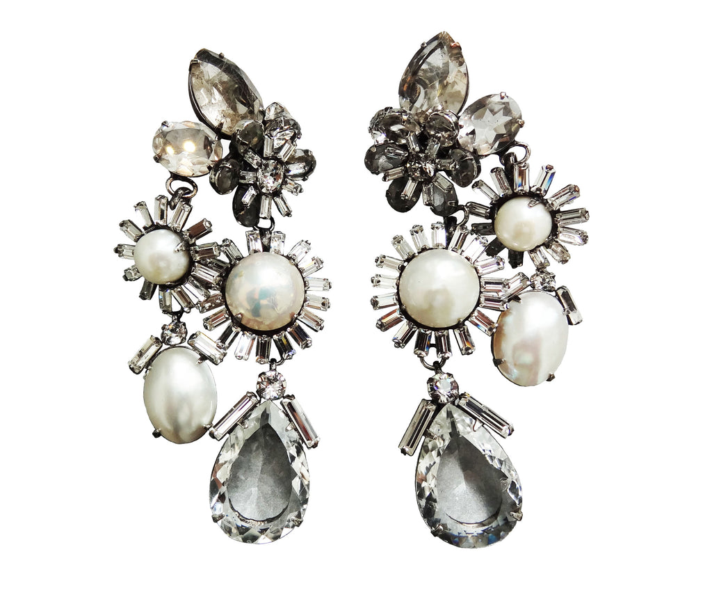 """Pearl & Rock Crystal"" Earrings - ARCHIVES"