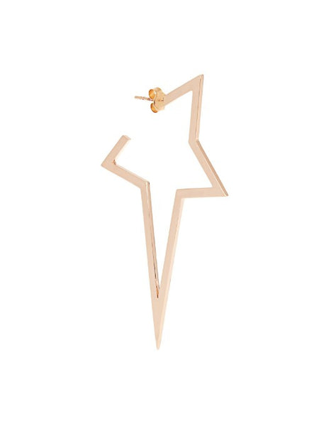 """Large Star"" 18K Rose Gold Mono Earring - ARCHIVES - 3"