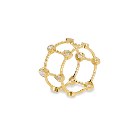 """MINI ROSE CUT CAGE"" RING"