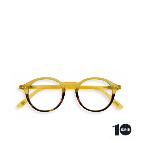 """D"" Yellow Tortoise 10 Year Anniversary Reading Glasses"