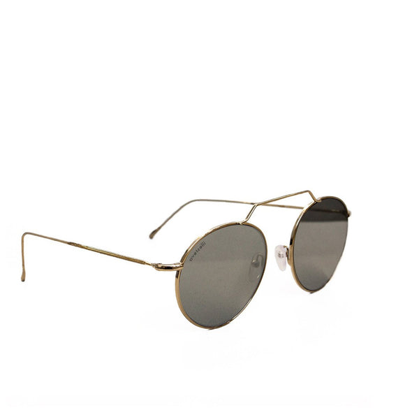 """Wynwood III"" Gold with Silver Mirror Sunglasses"