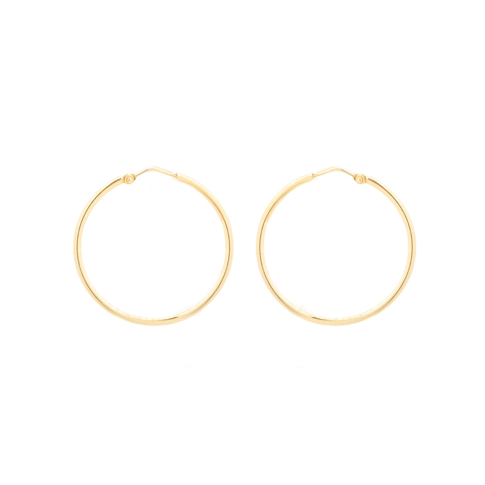 """14K Yellow Gold Hoops"" Earrings"
