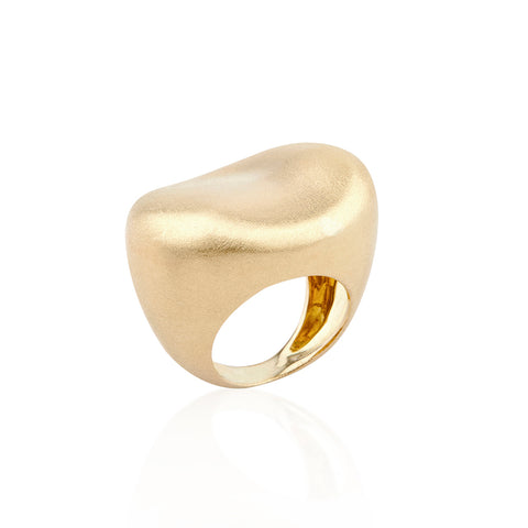 """MALAK OVAL"" 18K YELLOW GOLD RING"