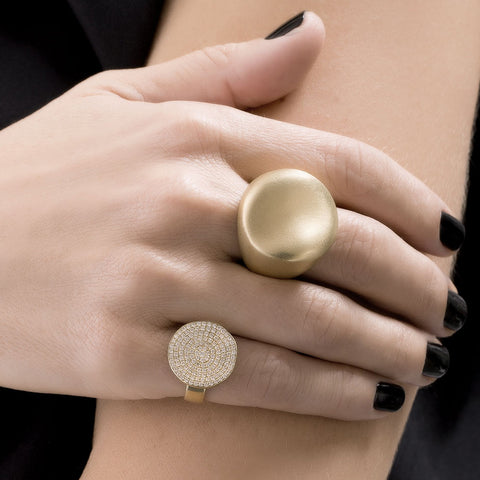 """MALAK ROUND"" 18K YELLOW GOLD RING"