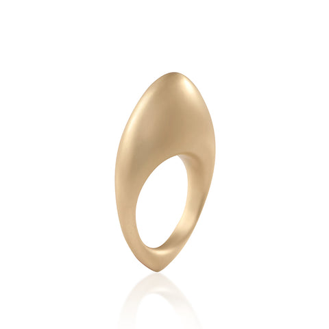 """FUSE ROCK"" 18K YELLOW GOLD RING"
