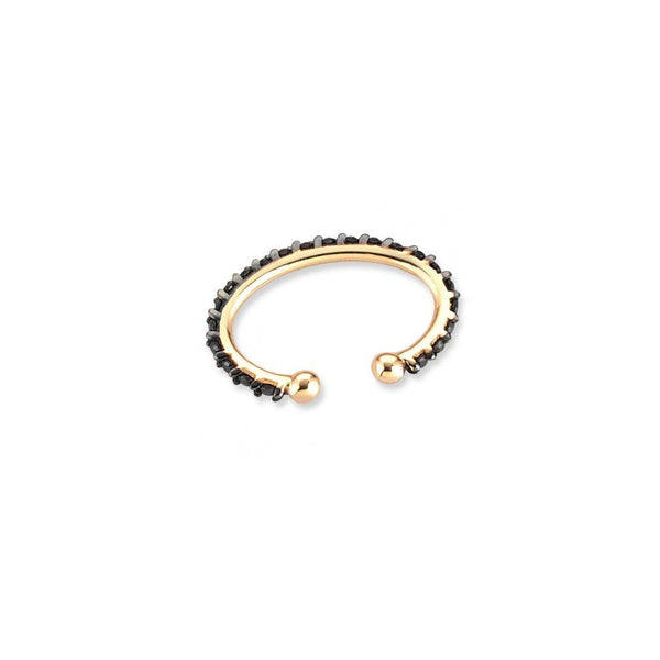 """Black Diamond Circle Cuff"" Earring"