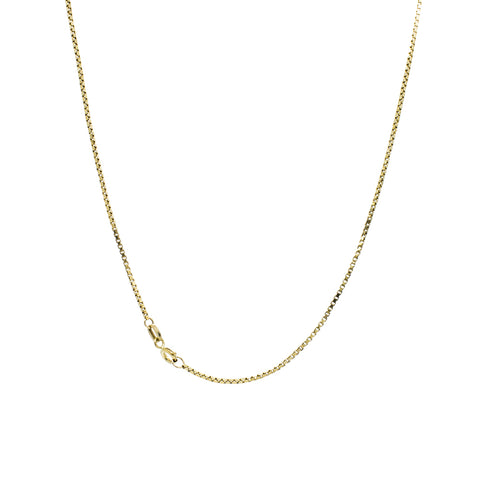 """10K Yellow Gold Box Chain"" Necklace"