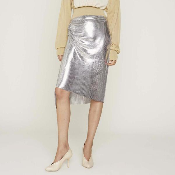"""Draped Wrap Mini Mesh"" Skirt"