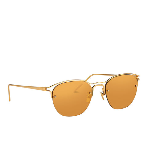 """Browline Yellow Gold"" Sunglasses"