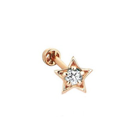 """STAR 1 SOLITAIRE"" EAR PIERCING"