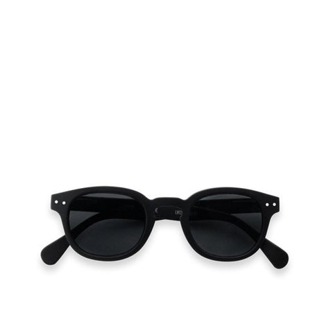 """C"" Black Grey Lenses Sunglasses"
