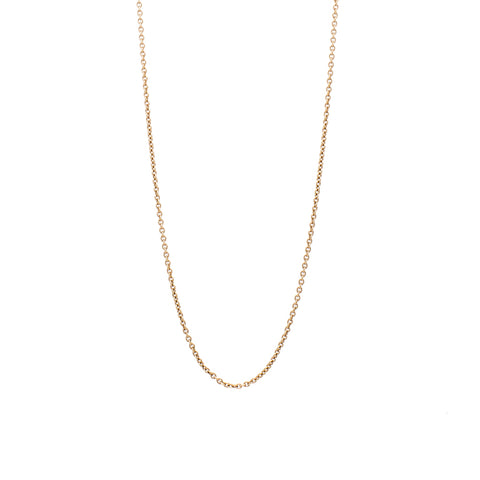 """18K Rose Gold Cable Chain"" Necklace"