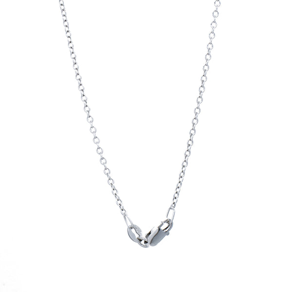 """18K White Gold Cable Chain"" Necklace"