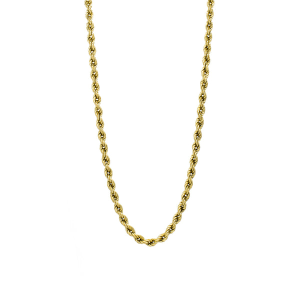 """18K Yellow Gold Rope Chain"" Necklace"