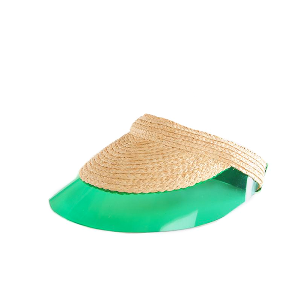 """BILLIARD"" NATURAL / GREEN VISOR"