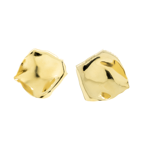 """Gold Rose Petals"" Clip-on Earrings"