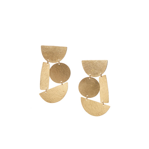 """MASHA"" GOLD-PLATED BRASS EARRINGS"